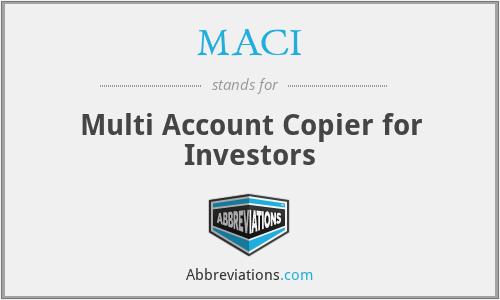 MACI - Multi Account Copier for Investors