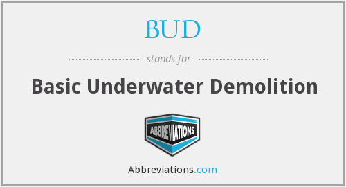 BUD - Basic Underwater Demolition