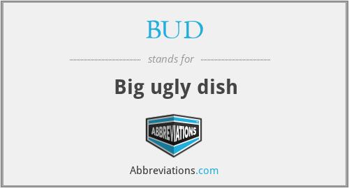 BUD - Big ugly dish