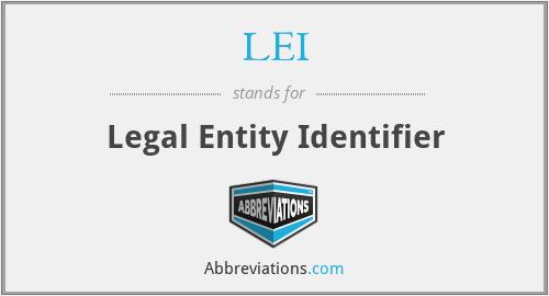LEI - Legal Entity Identifier