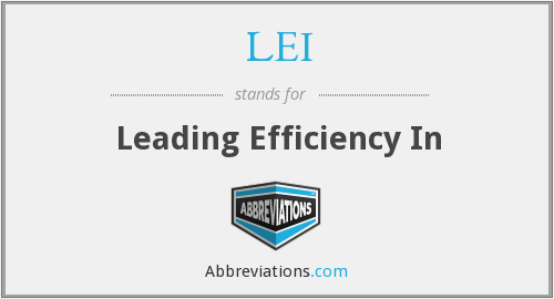 LEI - Leading Efficiency In