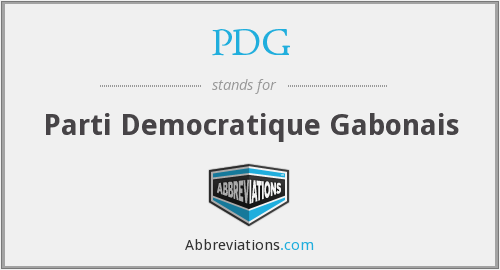 PDG - Parti Democratique Gabonais