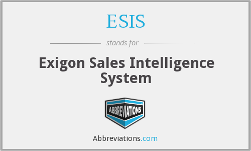 ESIS - Exigon Sales Intelligence System