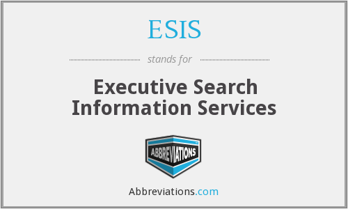 ESIS - Executive Search Information Services