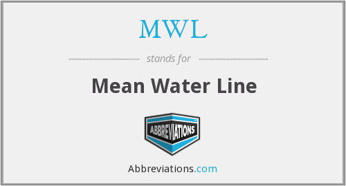 MWL - Mean Water Line
