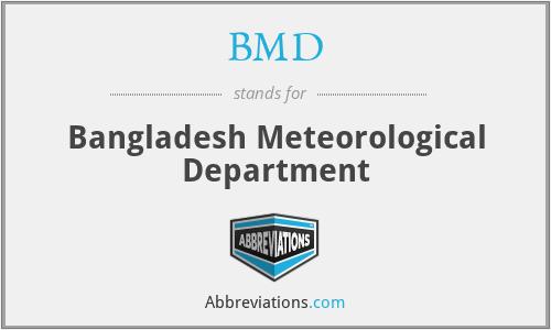 BMD - Bangladesh Meteorological Department
