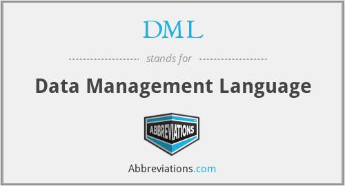 DML - Data Management Language