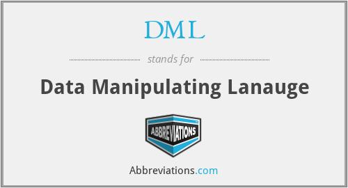 DML - Data Manipulating Lanauge