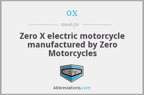0x - Zero X electric motorcycle manufactured by Zero Motorcycles