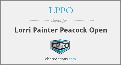 LPPO - Lorri Painter Peacock Open