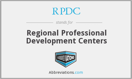 What does RPDC stand for?