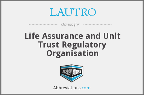 What does LAUTRO stand for?