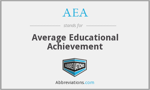 AEA - Average Educational Achievement