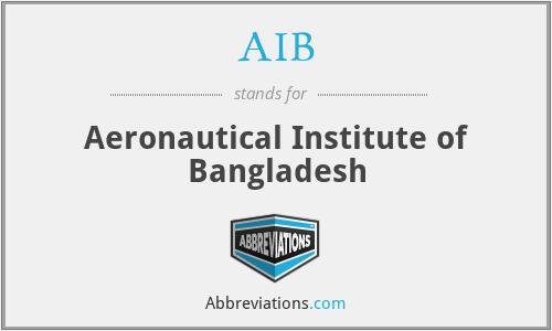 AIB - Aeronautical Institute of Bangladesh