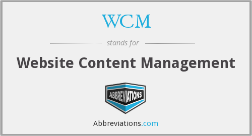 WCM - Website Content Management