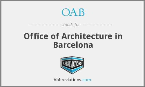 OAB - Office of Architecture in Barcelona