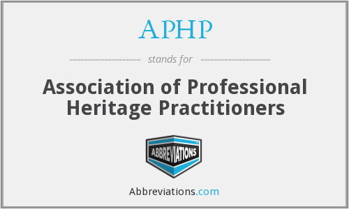 APHP - Association of Professional Heritage Practitioners