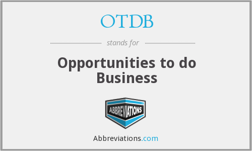 What does OTDB stand for?