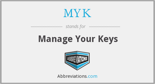 MYK - Manage Your Keys