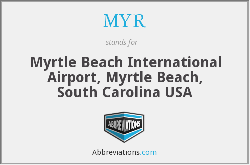 MYR - Myrtle Beach International Airport, Myrtle Beach, South Carolina USA