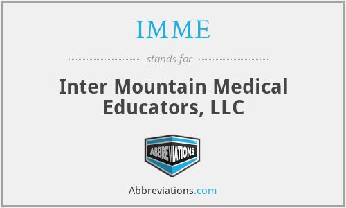 IMME - Inter Mountain Medical Educators, LLC