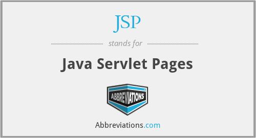 JSP - Java Servlet Pages