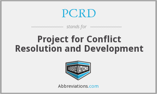 PCRD - Project for Conflict Resolution and Development