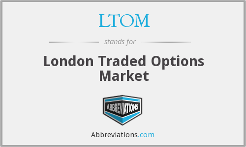London traded options market prices