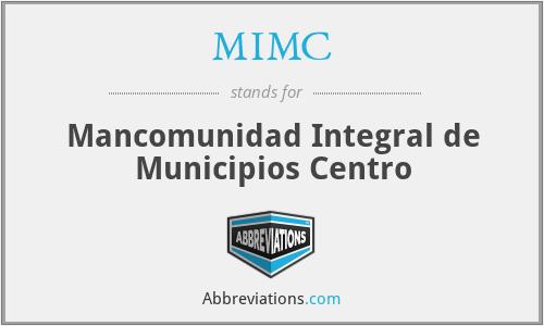 MIMC - Mancomunidad Integral de Municipios Centro