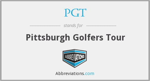 PGT - Pittsburgh Golfers Tour