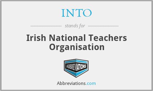 INTO - Irish National Teachers Organisation