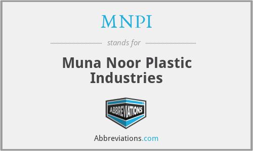 MNPI - Muna Noor Plastic Industries
