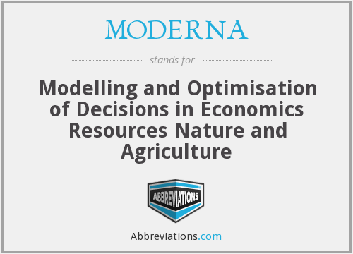 What does MODERNA stand for?
