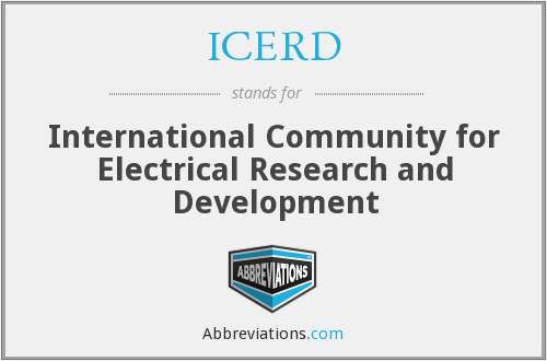 ICERD - International Community for Electrical Research and Development