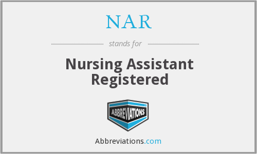 NAR - Nursing Assistant Registered