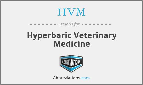 HVM - Hyperbaric Veterinary Medicine