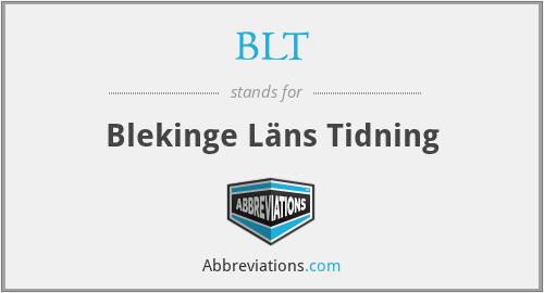 BLT - Blekinge Läns Tidning