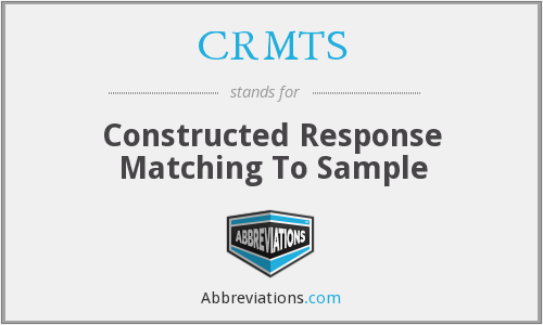 What does CRMTS stand for?