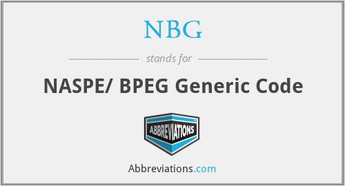 NBG - NASPE/ BPEG Generic Code