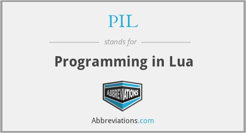 PIL - Programming in Lua