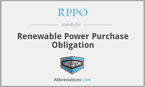 RPPO - Renewable Power Purchase Obligation