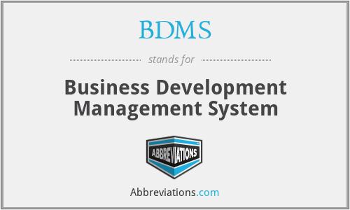 BDMS - Business Development Management System