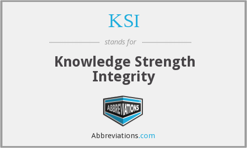 KSI - Knowledge Strength Integrity