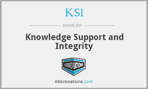 KSI - Knowledge Support and Integrity