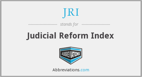 JRI - Judicial Reform Index