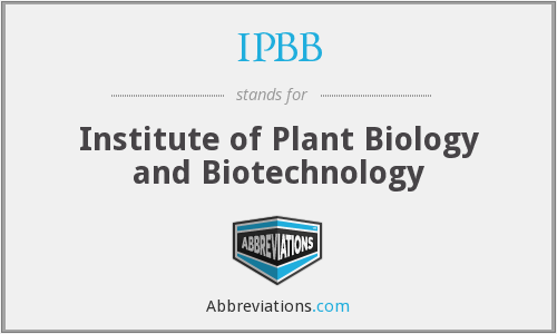 IPBB - Institute of Plant Biology and Biotechnology