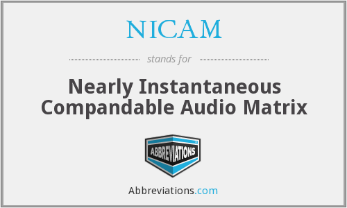 NICAM - Nearly Instantaneous Compandable Audio Matrix
