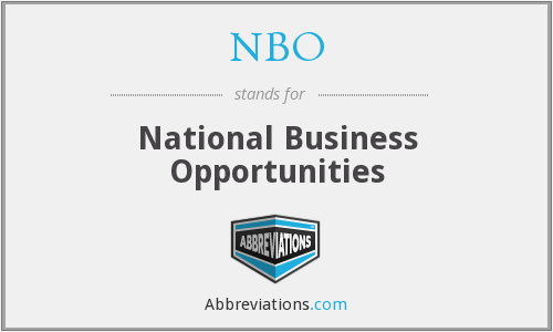 NBO - National Business Opportunities