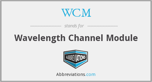 WCM - Wavelength Channel Module