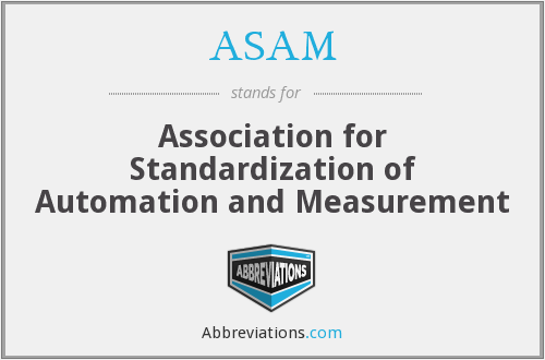 ASAM - Association for Standardization of Automation and Measurement